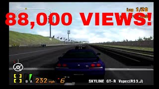 Gran Turismo 3 Like the Wind! Nissan Skyline GT-R V-Spec(R33)! 88,000 View! THANK YOU ALL SO MUCH!