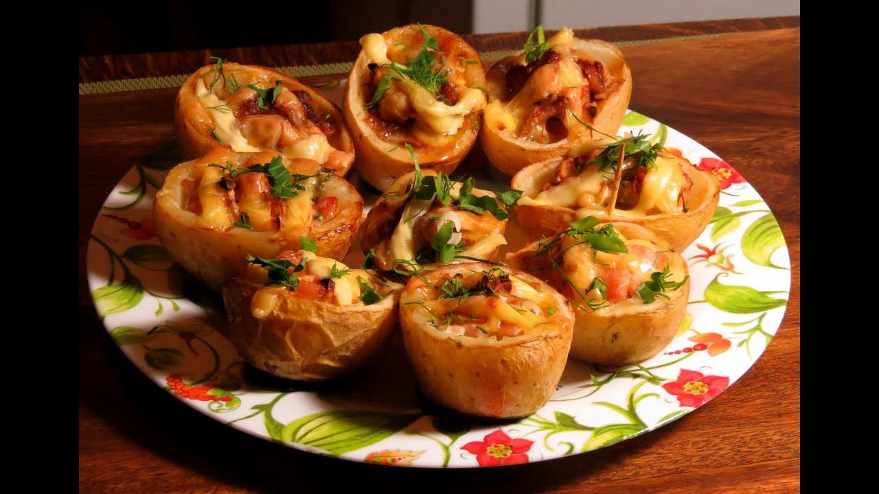 Фаршированный картофель курицей рецепты