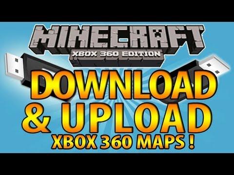 Minecraft (Xbox 360) - Easy Download & Upload Custom Maps TUTORIAL