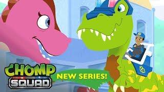 ¡Series Nuevas! - Chomp Squad Latino América - 'El Dino-Cruce'🚦 Episodio 3