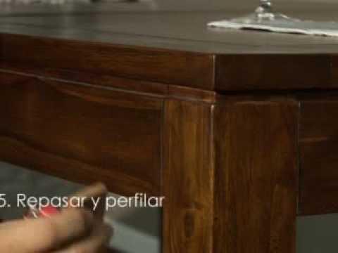 C mo restaurar muebles en madera de teca y acabados a la - Restaurar mueble madera ...