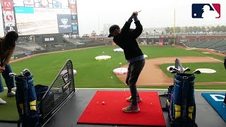 13 yr old Golfing in MLB Park!