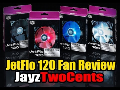 Cooler Master JetFlo 120 Fan Review! Worlds First POM Bearing!
