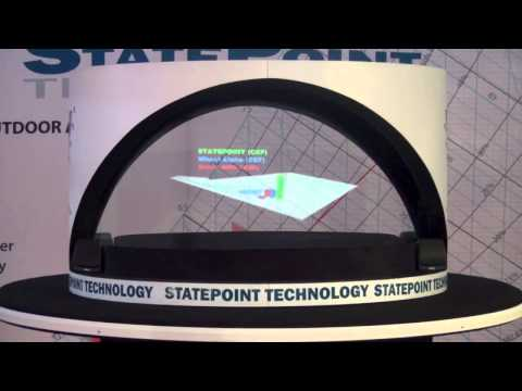 3D Hologram Projector projects floating 3D video images in mid air.