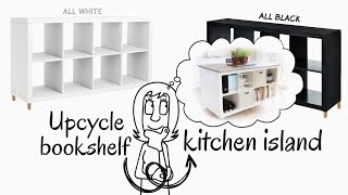 How to Up-cycle Bookshelf to a  Kitchen Island
