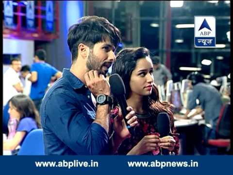 FULL UNCUT: Shahid Kapoor and Shraddha in newsroom to promote 'Haider'