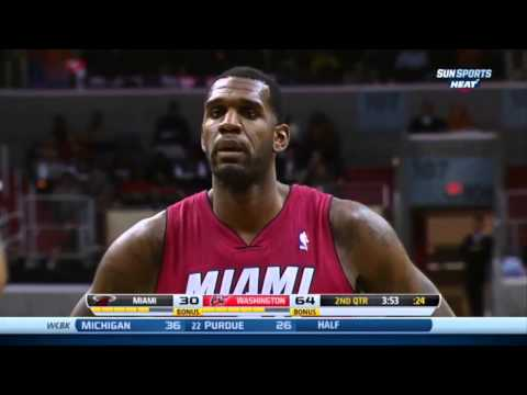 Greg Oden Season Debut FULL HIGHLIGHTS - 6 pts, 2 rbds - HEAT vs. Washington Wizards