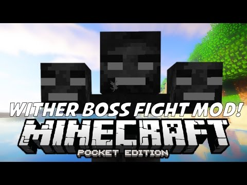 WITHER BOSS FIGHT IN MCPE!!! Wither Mod | Minecraft PE (Pocket Edition) 0.11.0 / 0.11.1
