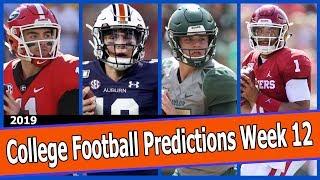 College Football Predictions Week 12