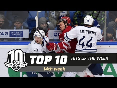 17/18 KHL Top 10 Hits for Week 14