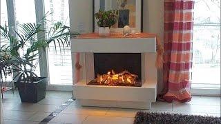 Elektrokamin Concept 4 L mit Wasserdampf 3D-Feuer http://www.kamin-design.com