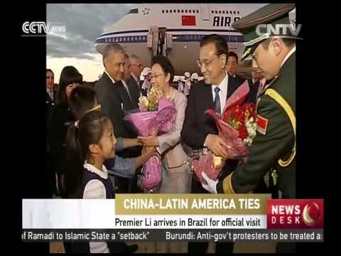 Premier Li Keqiang arrives in Brazil for official visit
