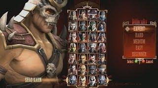 Mortal Kombat 9 BOSS Shao Kahn Test Your Luck  Exp
