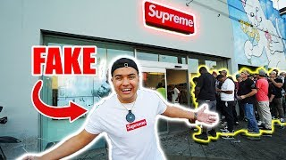 WEARING FAKE SUPREME TO THE SUPREME STORE IN LA!! (HYPEBEAST REACT)