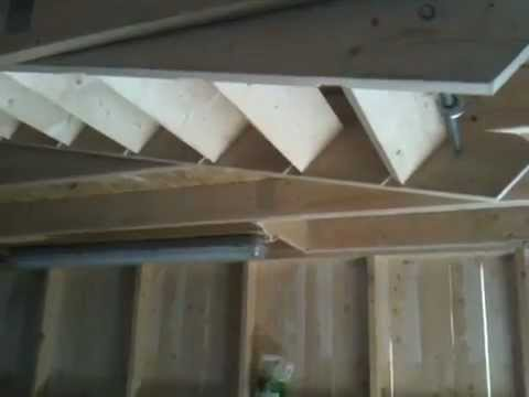Electric attic stair in the garage - YouTube