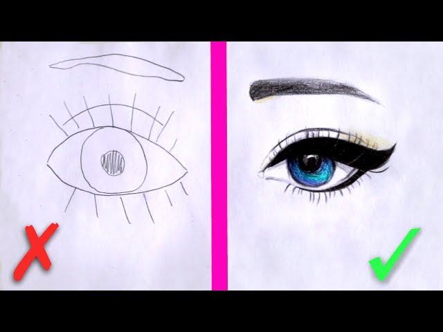 Учимся рисовать глаз карандашом для начинающих