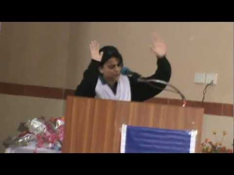Wafa Sabzwari  in All KARACHI urdu debate contest 2012 at SIR SYED GOVT GIRLS COLLEGE