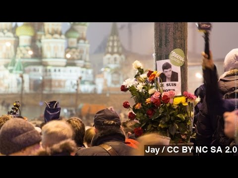 Thousands March In Moscow After Boris Nemtsov Murder