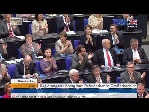 Brexit-Votum: Regierungserklärung von Angela Merkel am 28.06.2016