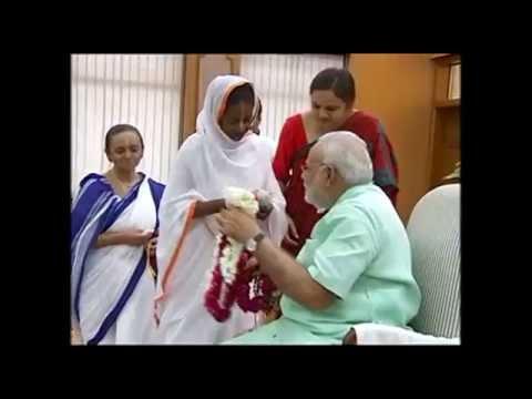 Widows from Vrindavan and Varanasi tie Rakhi to PM Modi
