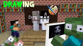 Download Song MONSTER SCHOOL - DRAWING KIDNAP CHALLENGE - Minecraft Animation Free StafaMp3