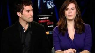 """Paranormal Activity"" Interview with Micah and Katie"