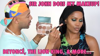 SIR JOHN DOES MY MAKEUP: TALKS BEYONCE & THE LION KING | MAKEUPSHAYLA