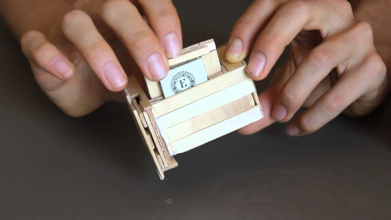Popsicle Stick Puzzle Box With Secret Compartments Youtube