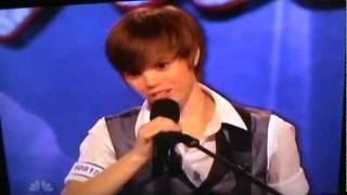 Americas Got Talent- Dani Shay Justin Bieber Girl sings Baby