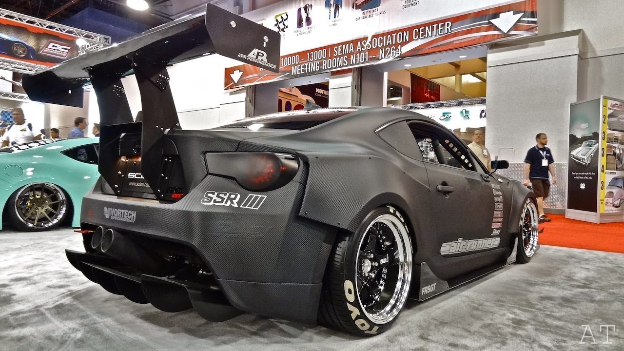 Scion Frs Turbo >> Full Carbon Fiber FRS - Sema 2012 - YouTube