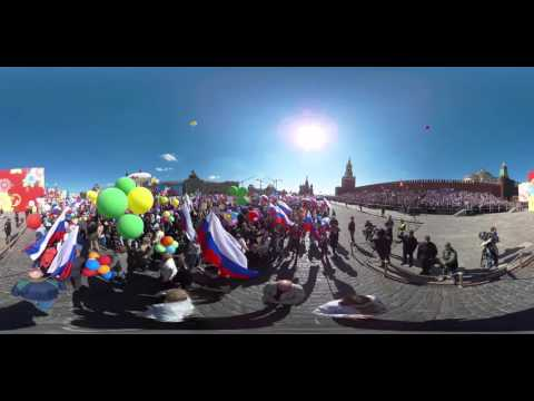 360 video of Moscow May Day celebrations 2016
