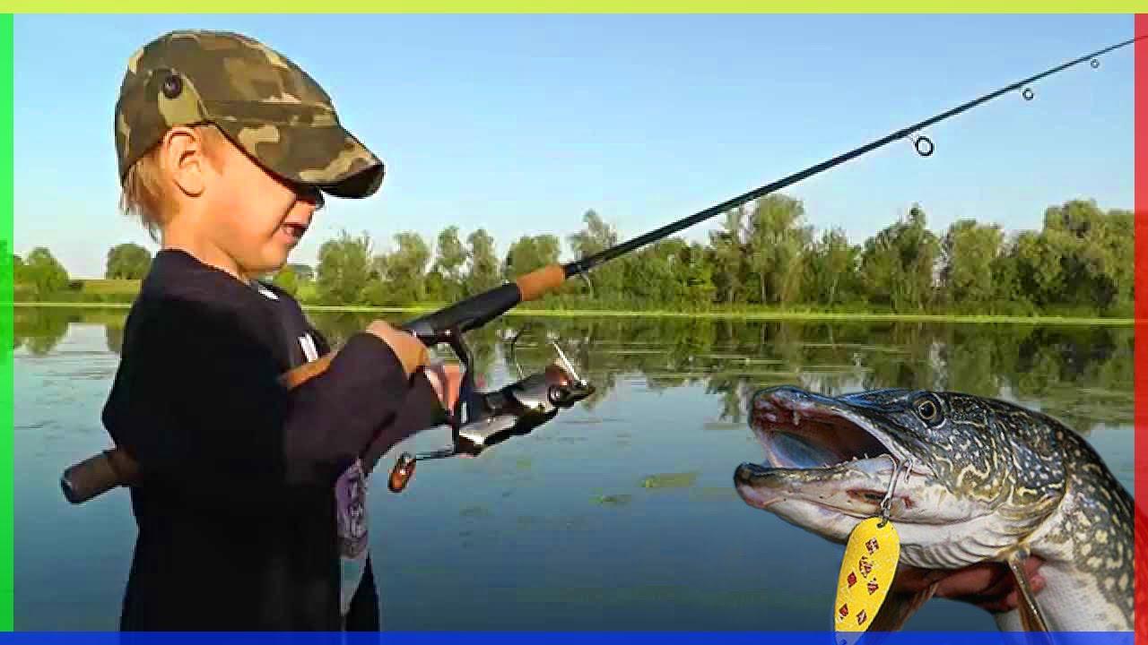 учимся ловить рыбу видео
