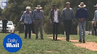 Prince Harry and Meghan visit drought ravaged farmers in Dubbo