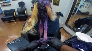 Purple and Pink Balayage 1 minute Video