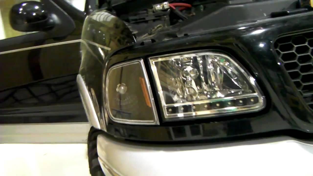 Ford F150 Headlights >> 2002 F150 Supercrew ebay Led headlights - YouTube