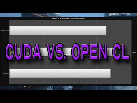 OpenCL Vs Cuda Vs. CPU Only - Sony VegasPro 13 and Premiere Pro CS6