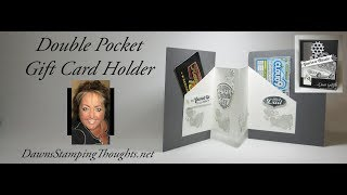 Double Pocket Gift Card Holder