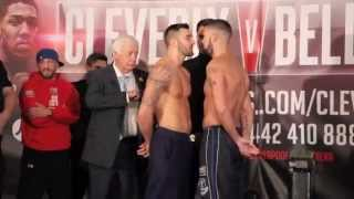 NATHAN CLEVERLY v TONY BELLEW 2 - OFFICIAL WEIGH IN FROM LIVERPOOL / REPEAT OR REVENGE