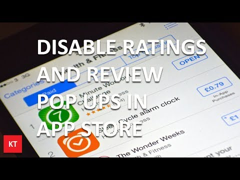 How to disable rating and review pop up in app store (iOS 11)