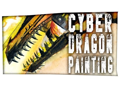 Cyber Dragon - Time Lapse painting by Mary Doodles