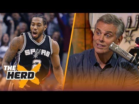 Colin Cowherd reacts to the Kawhi Leonard - DeMar DeRozan trade   NBA   THE HERD