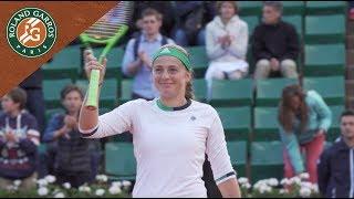 jelena ostapenko v caroline wozniacki last shots   womens quarterfinals 2017 roland garros