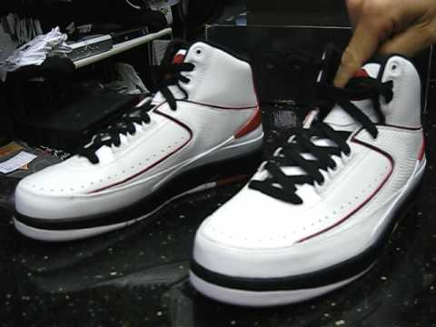 Air Jordan Retro 2 2010 - White Black Red at Street Gear, Hempstead NY Video