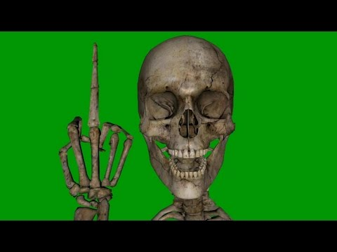 Greenscreen Skull - free to use in your projects thumbnail