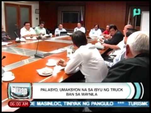 Balitaan: Palasyo, umaksyon na sa isyu ng 'truck ban' sa Manila [02/27/14]