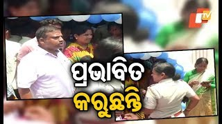 Tension at a polling booth in Bhubaneswar; a local alleges misuse of govt machinery