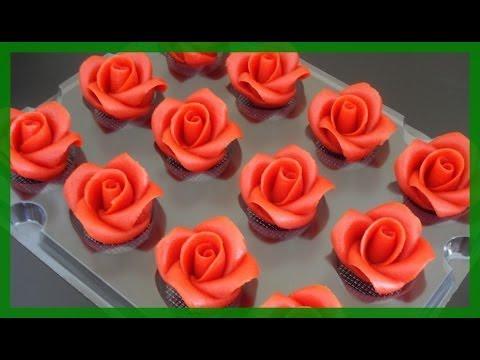 fondant rosen wie vom konditor rosen einfach selber modellieren von kuchenfee youtube. Black Bedroom Furniture Sets. Home Design Ideas