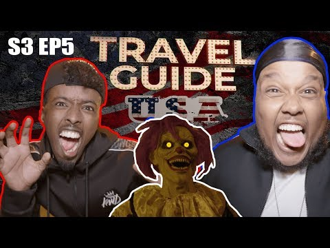 ROAD TO KSI: CHUNKZ AND AJ GO GHOST HUNTING   TRAVEL GUIDE USA EP 5
