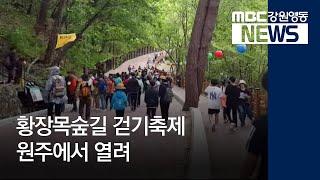 R)황장목숲길걷기축제 원주에서 열려-토도