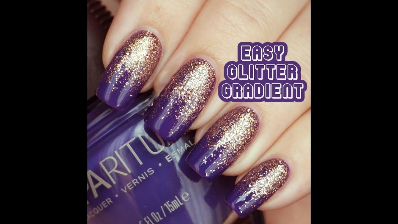 lucys stash glitter gradient nail art tutorial youtube